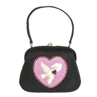 Lulu Guinness suede daphne dove bag