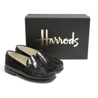 Kids Surrey Black Loafers