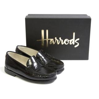 Kids Surrey Black Loafers
