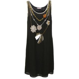 Matthew Williamson silk jewel dress