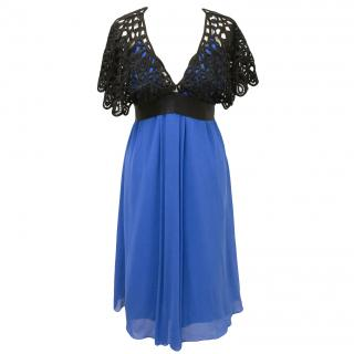 BCBG Max Azria Blue crochet dress