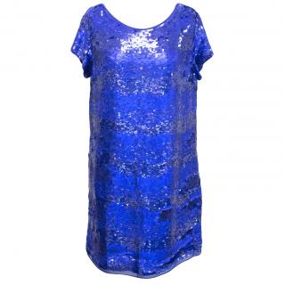 Paul Smith blue sequin shift dress