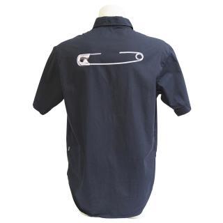 Moschino jeans dark blue printed shirt