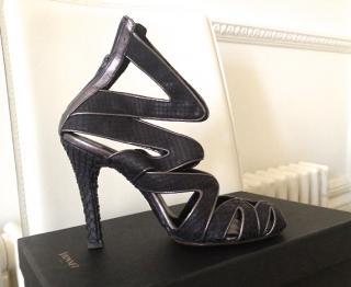 Stunning Vionnet Black Snake Skin Shoes