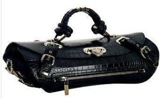 Versace canyon medium denim croc style handbag limited edition handbag