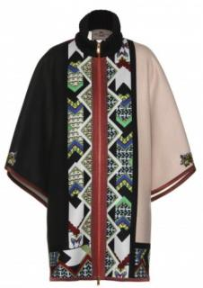 ETRO PRINTED WOOL CAPE Current season