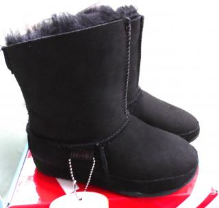 New! FitFlop Girls Mukluk Boots Black size UK 12 EUR 31