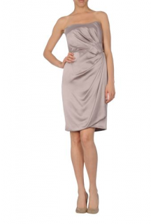 ALBERTA FERRETTI copper cocktail dress