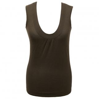 Theory brown tank top