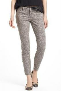 Level 99 Janice ultra skinny lace print jeans