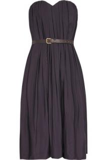 Chloe Strapless silk-blend dress