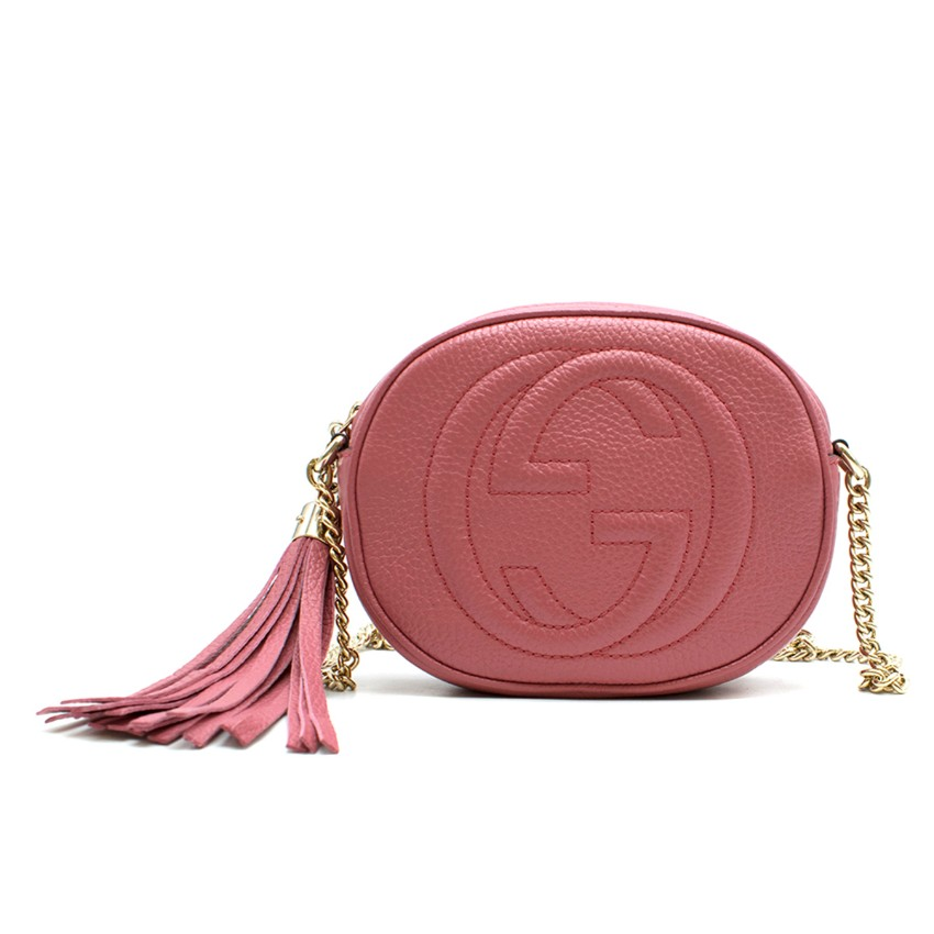 16bc9d0ad Gucci Soho Pink Round Leather Crossbody Bag | HEWI London