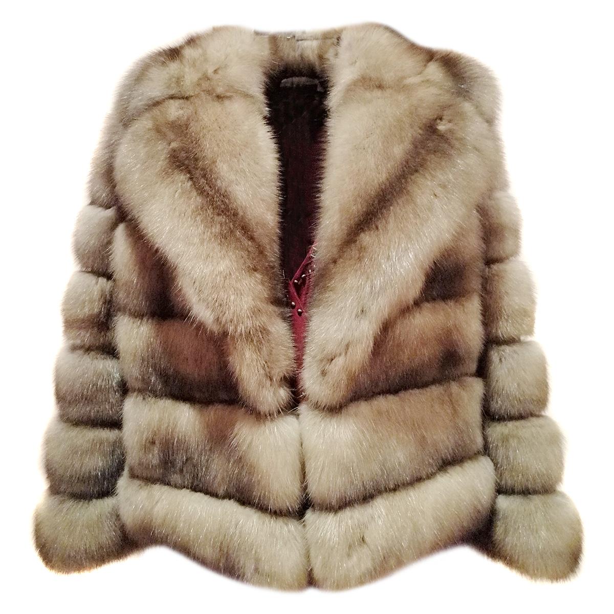 Barguzinsky Silvery Russian Sable Fur Jacket