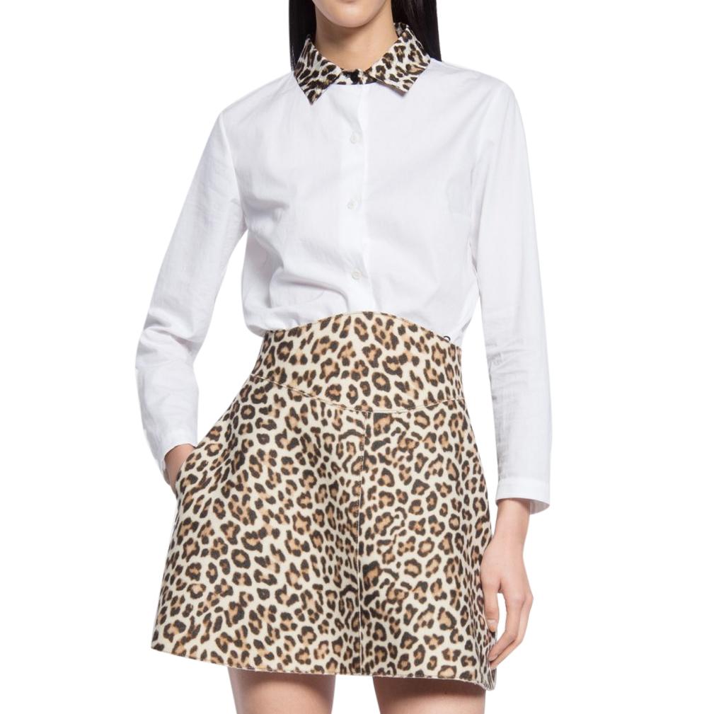 38db6adecfdd Carven Leopardcollar Cottonpoplin Shirt | HEWI London