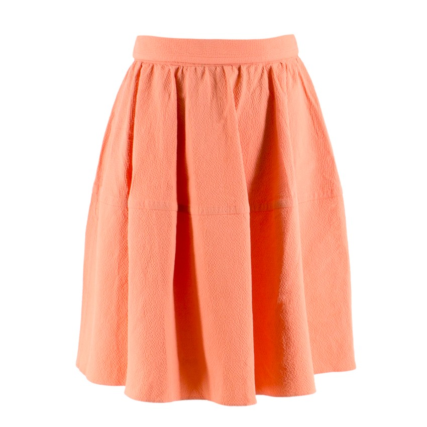Carven Peach A-line Skirt