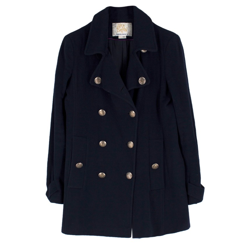Sara Berman for Trilogy wool and cashmere-blend peacoat