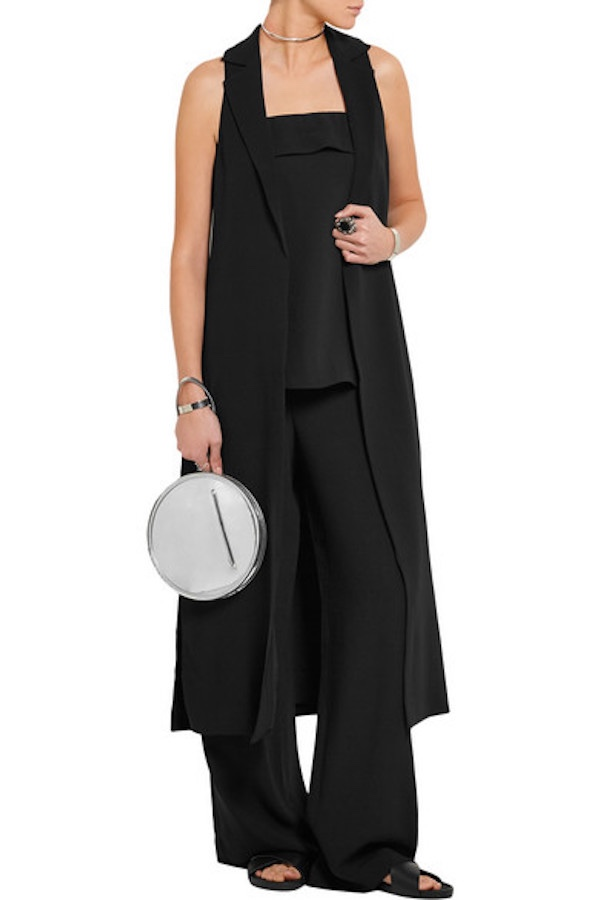 Elizabeth And James Ryzan Black Crepe Sleeveless Vest