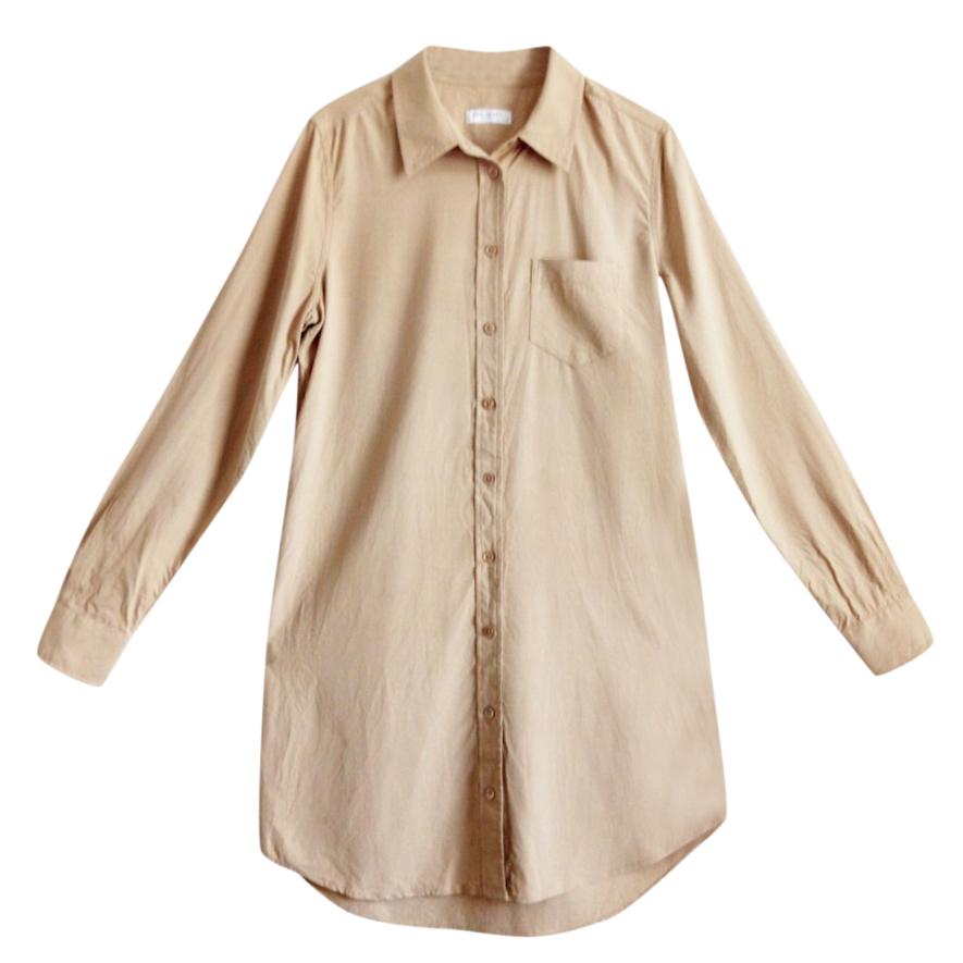 76c9aad65a9f33 Beige Silk Shirt Dress