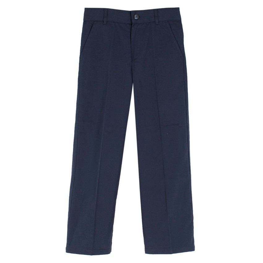 Harrods boy's navy blue stretch chino trousers