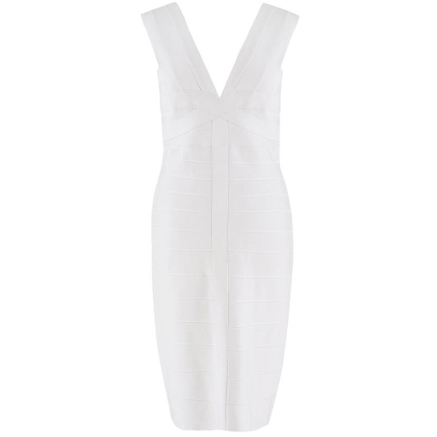 Herve Leger Light Pearl bandage dress