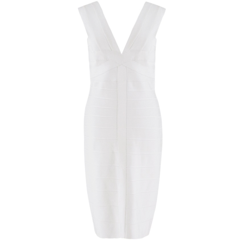 Herve Leger Light Pearl bandage dress
