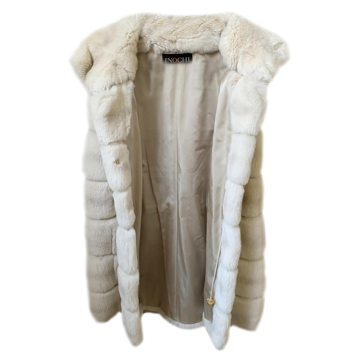Bespoke Rex Rabbit White Fur Jacket