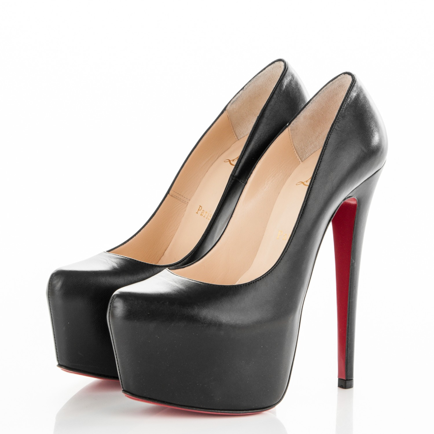 low priced e4984 b42a6 Christian Louboutin Black Daffodile 160 Kid Pumps