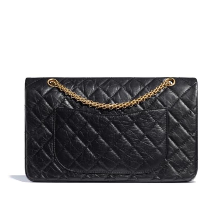 f899e90524e5 Chanel black 2.55 reissue bag calf 227 leather large bag. 20. 12345678