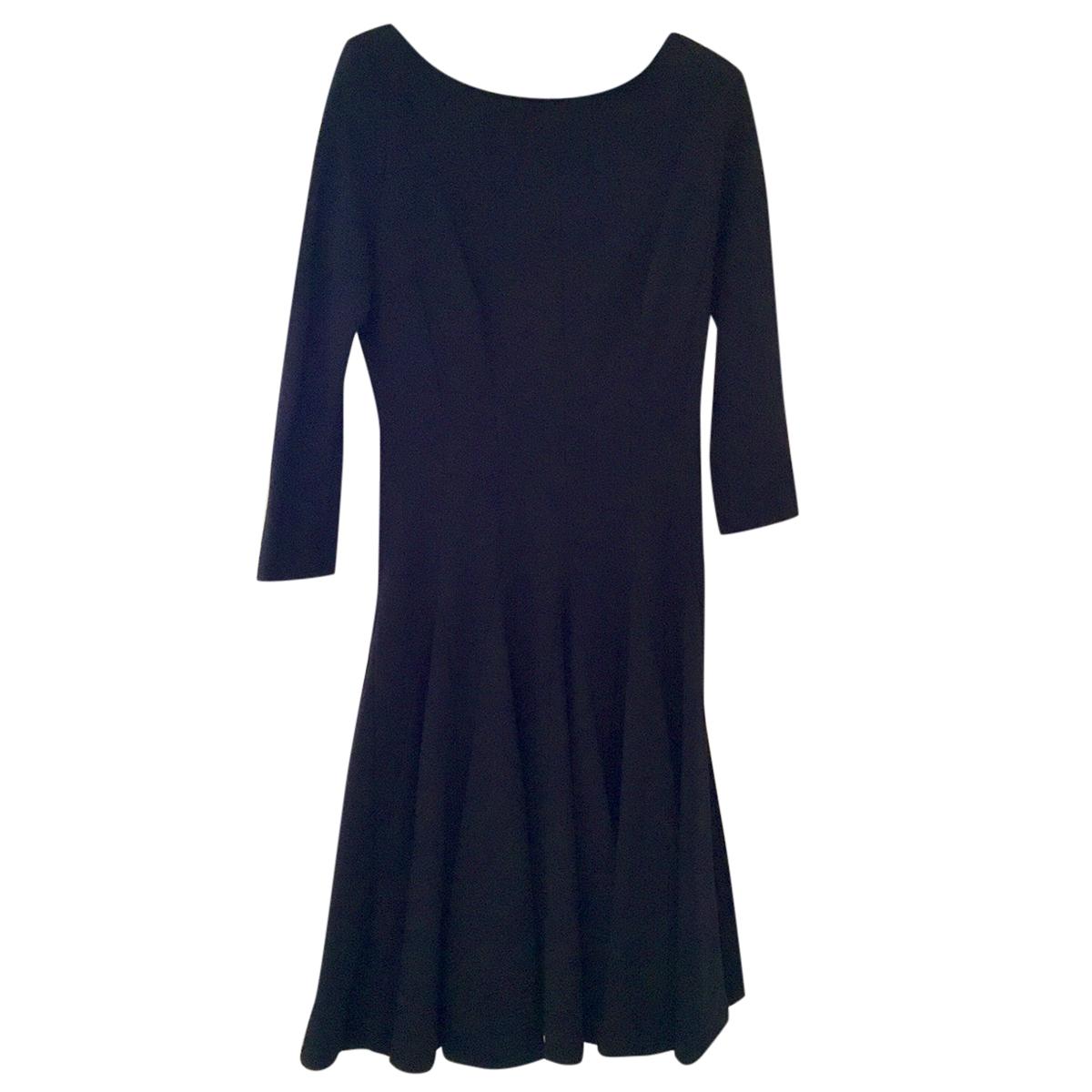 Issa black skater style dress, UK 8