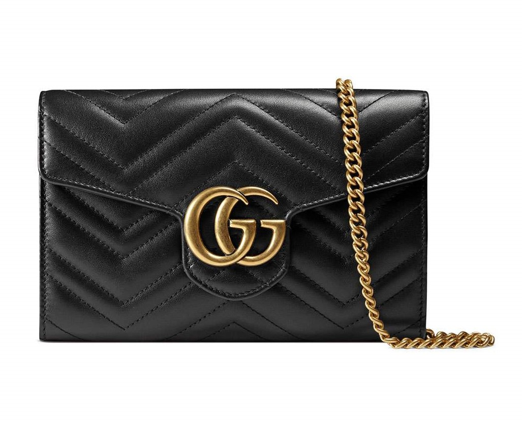 Gucci black GG Marmont matelass� mini bag