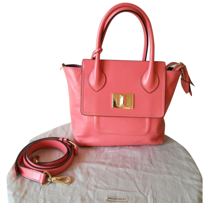 Emilio Pucci Two way leather handbag