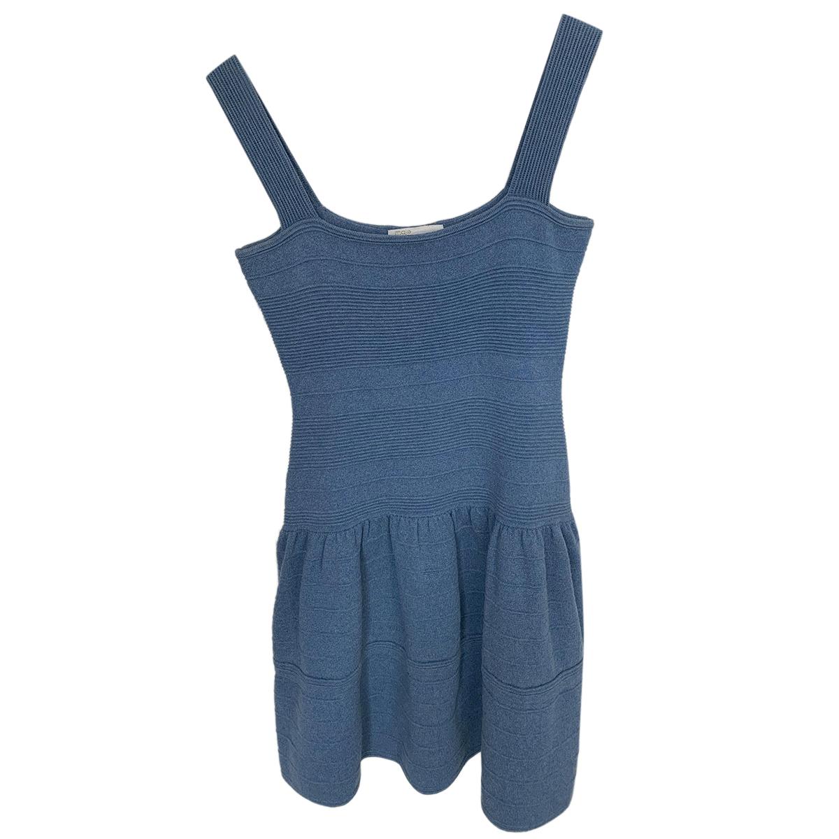 Maje Knit Blue Sleeveless Dress