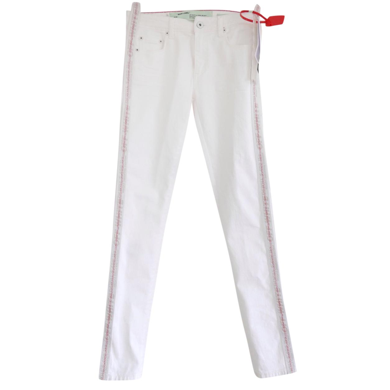 Off-White Industrial Belt Side White Denim Jeans