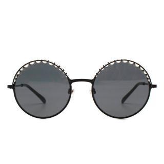 Chanel faux-pearl round-frame sunglasses - New Season