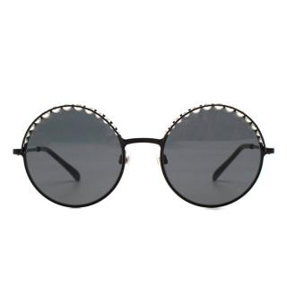 Chanel faux-pearl round-frame sunglasses - New Season