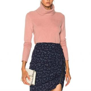 Veronica Beard pink roll-neck cashmere sweater