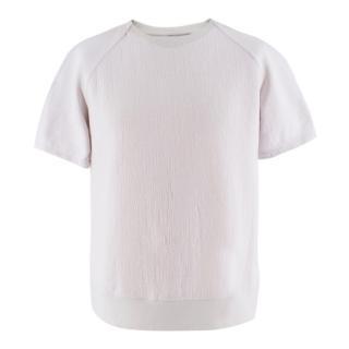 Helmut Lang grey cotton-blend T-shirt