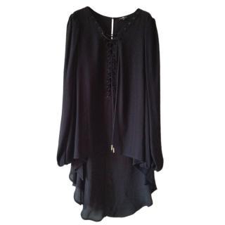Elisabetta Franchi Lace-Up Asymmetric Shirt