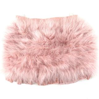 Miss Grant girl's dusty-pink feather skirt