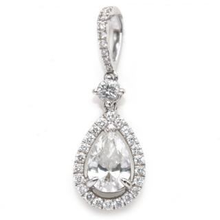 Bespoke diamond encrusted white-gold pendant