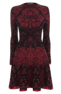 Alexander McQueen Wool-Blend Stretch-Knit Jacquard Dress