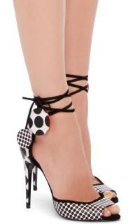 Pierre Hardy Lola Polka Dot Tie Ankle Sandals Heels New IT36/UK3