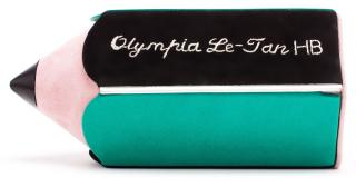 Olympia Le-Tan Green Suede & Leather Pencil Clutch