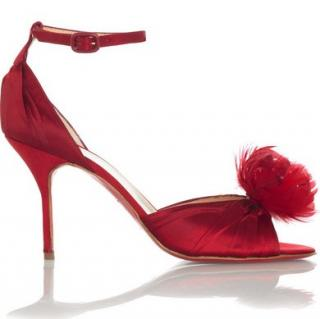 Christian Louboutin Rosazissimo Feather Sandals