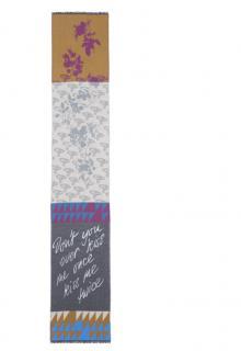 Vivienne Westwood mixed print wool & silk scarf