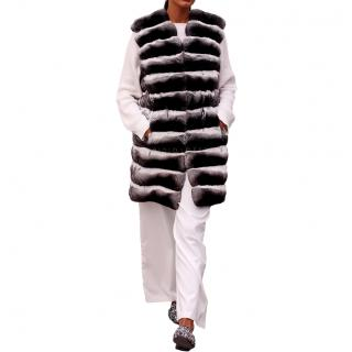 Kopenhagen Fur Purple Label Chinchilla Fur Long Vest