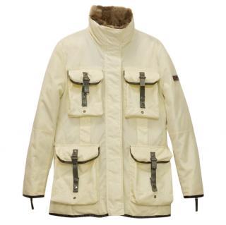 PEUTEREY Rabbit Fur Goose Down Jacket Coat