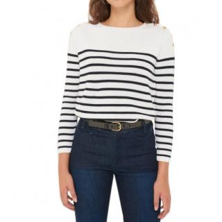 Gerard Darel striped scoop neck jumper