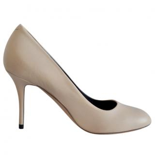 Celine nude leather pumps
