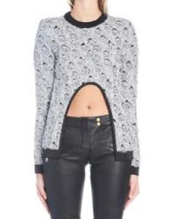 Balmain Metallic Cut-Out Top